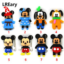 Lucu Konyol Anjing Penyihir USB Flash Drive Minnie Lucu Pena Drive Mickey Mouse Thumb U Disk 4GB 8GB 16GB 32GB Memori Stick Flashdisk(China)