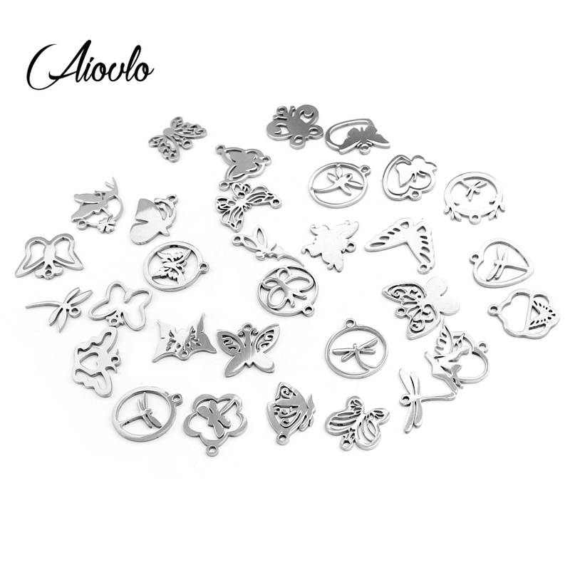 10Pcs 3D Stainless Steel Geometric Cuboid Charms Pendant Jewelry Making Findings