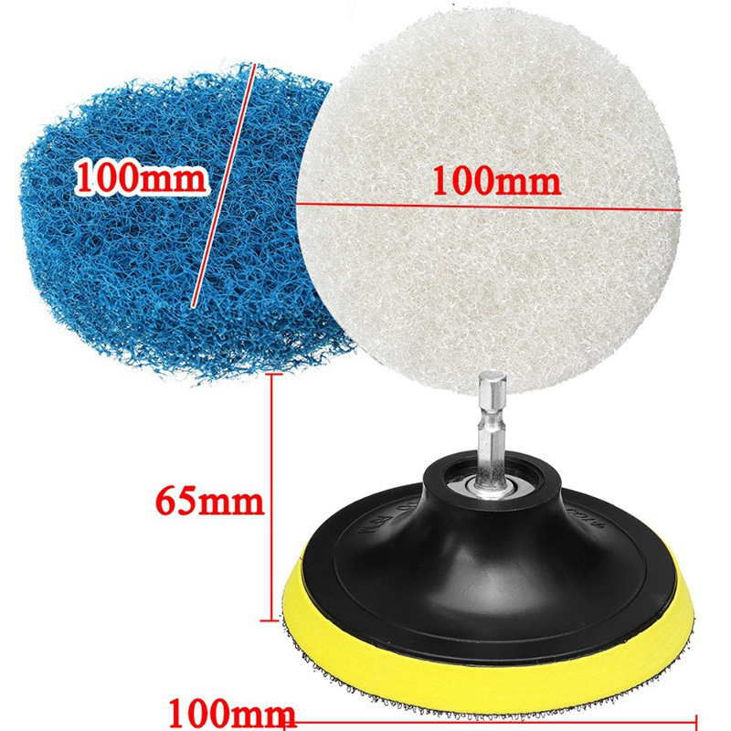 Image 2 - 11 Pcs Power Scrubber Brush Drill Brush Clean For Bathroom Surfaces Tub Shower Tile Grout Cordless Power Scrub Cleaning-in Electric Drills from Tools on