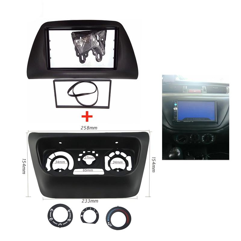 2din Car Fascia Frame For Mitsubishi Lancer Ix 2006 Ac Control Accessories Panel Car Radio Fascia