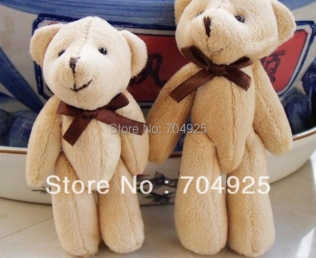 10PCS Size BIG Super Kawaii 13CM Joint TED  Bear Plush Stuffed TOY , BAG Charm Chain Pendant, Key Chain DOLL