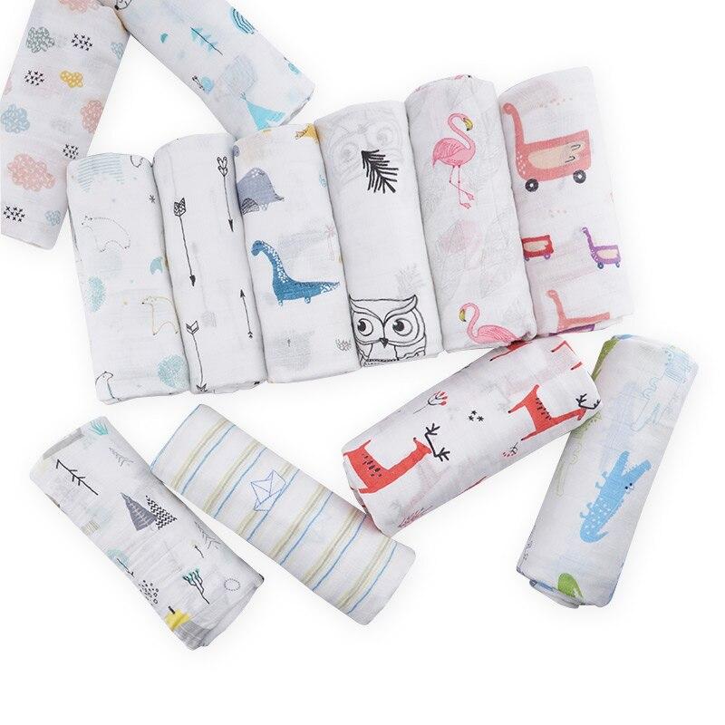 все цены на Muslinlife Cotton Bamboo Baby Blanket Wrap, Breathable Soft Summer Blanket Infant 120*120cm