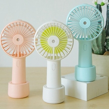 купить 2000Mah Portable Water Spray Mist Fan Electric Usb Rechargeable Handheld Mini Fan Cooling Air Conditioner Humidifier For Outdo дешево