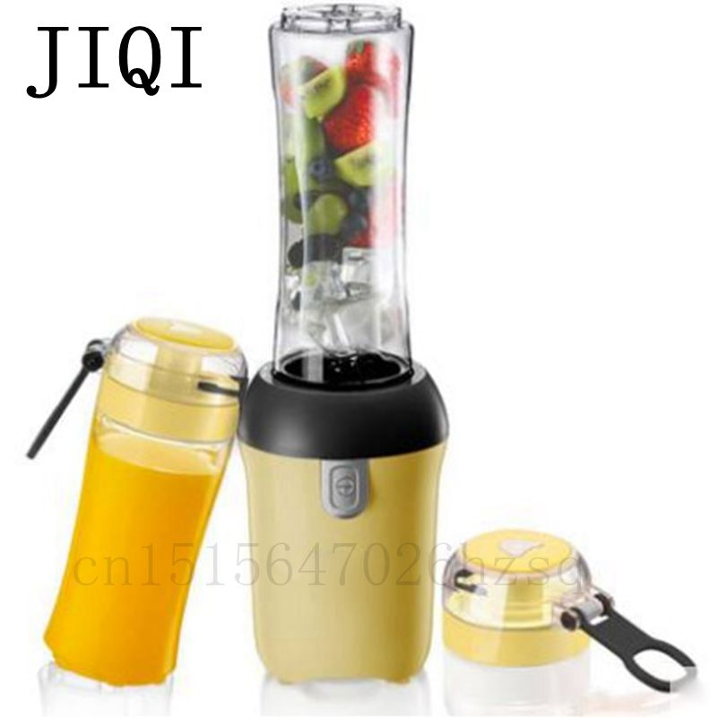JIQI Household portable 2-cup Juicers Mini electric automatic juicing machine 300W power for juicing,mixing,stirring