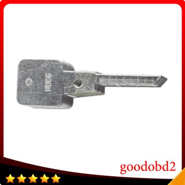 Original Chave Linha Gravada para o 2 em 1 HU66 LiShi 2-em-1 escala ferramenta dentes de corte chave em branco chave do carro ferramentas de serralheiro suprimentos