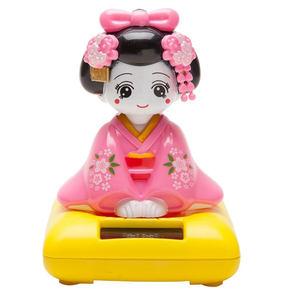 Solar Powered Bobblehead Toy Figure, Japanese Kimono Maiko GeishaSolar Powered Bobblehead Toy Figure, Japanese Kimono Maiko Geisha