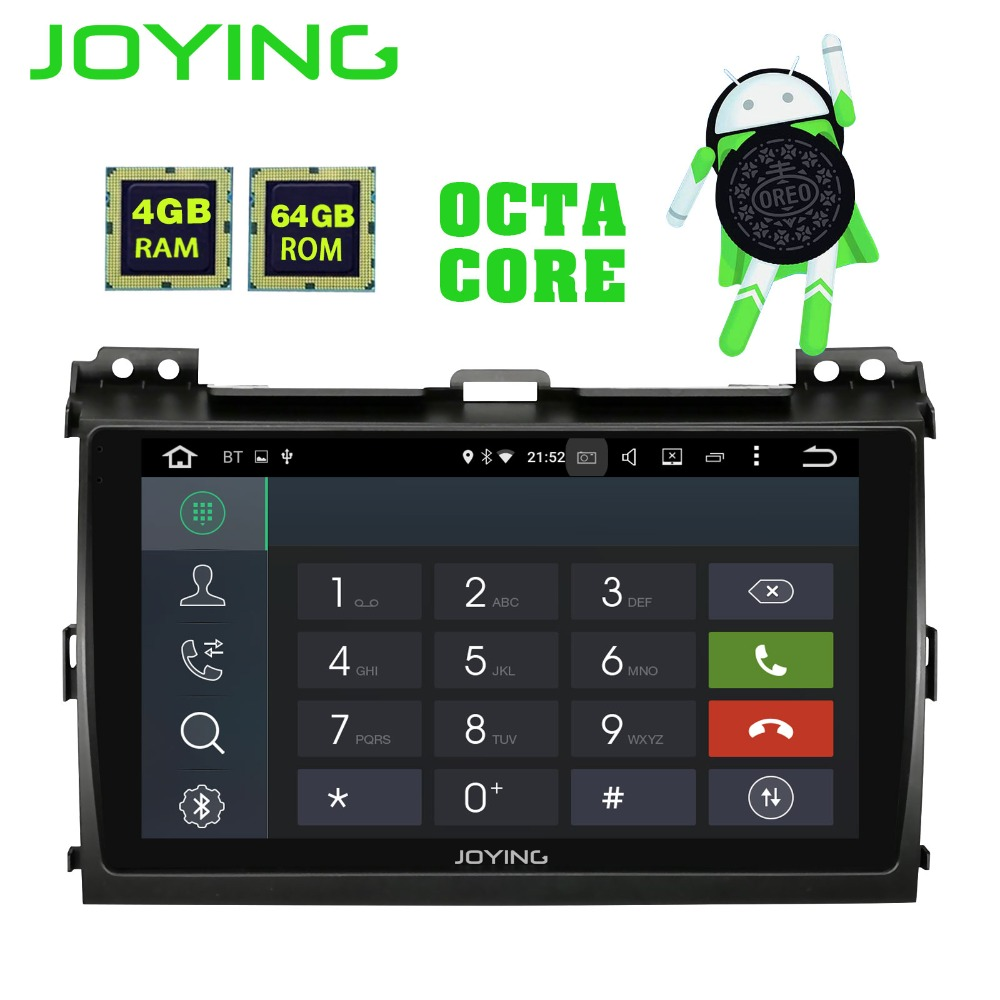 JOYING 4GB 64GB ROM Android 8.1 2 din 9 inch 8 Core Car GPS Player Radio Stereo For Toyota Land Cruiser Prado 120 LEXUS GX 470 silverstrong 2din ips dsp android7 1 gps car radio for toyota prado 120 for lexus gx470 car gps land cruiser prado 120 ips dsp