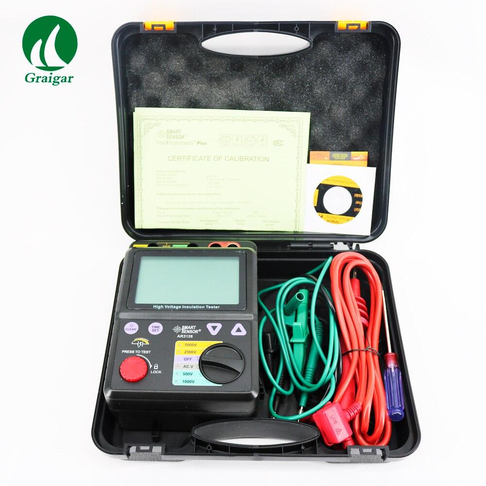 Smart Sensor AR3126 Voltage Insulation Tester 0 1000G ohm,5000V
