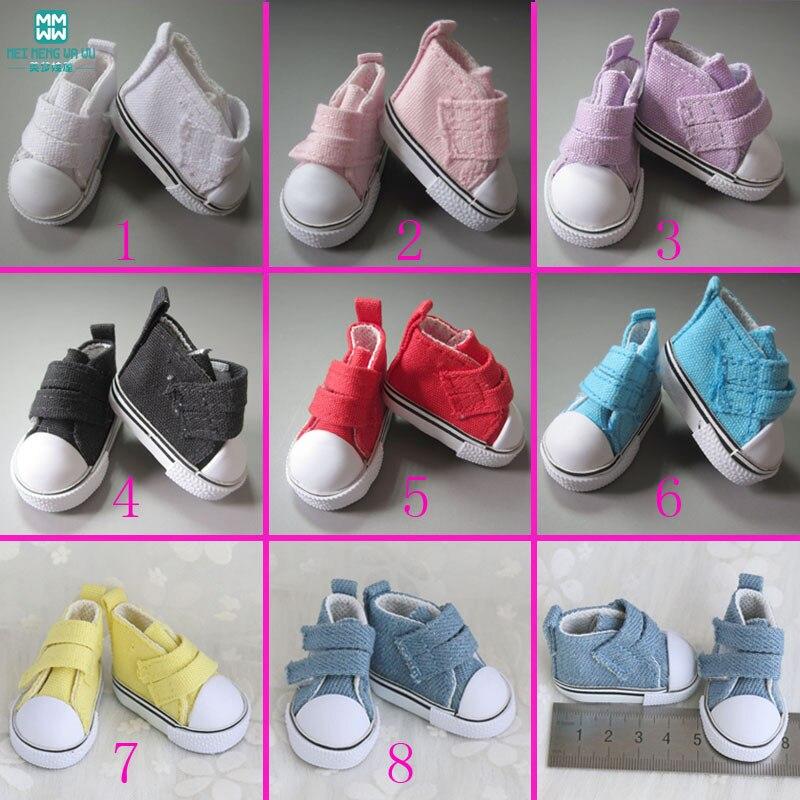 1 Paar 5 Cm Mimi Schoenen Voor Poppen 1/6 Bjd Pop Accessoires Roze, Paars, Geel, Blauw