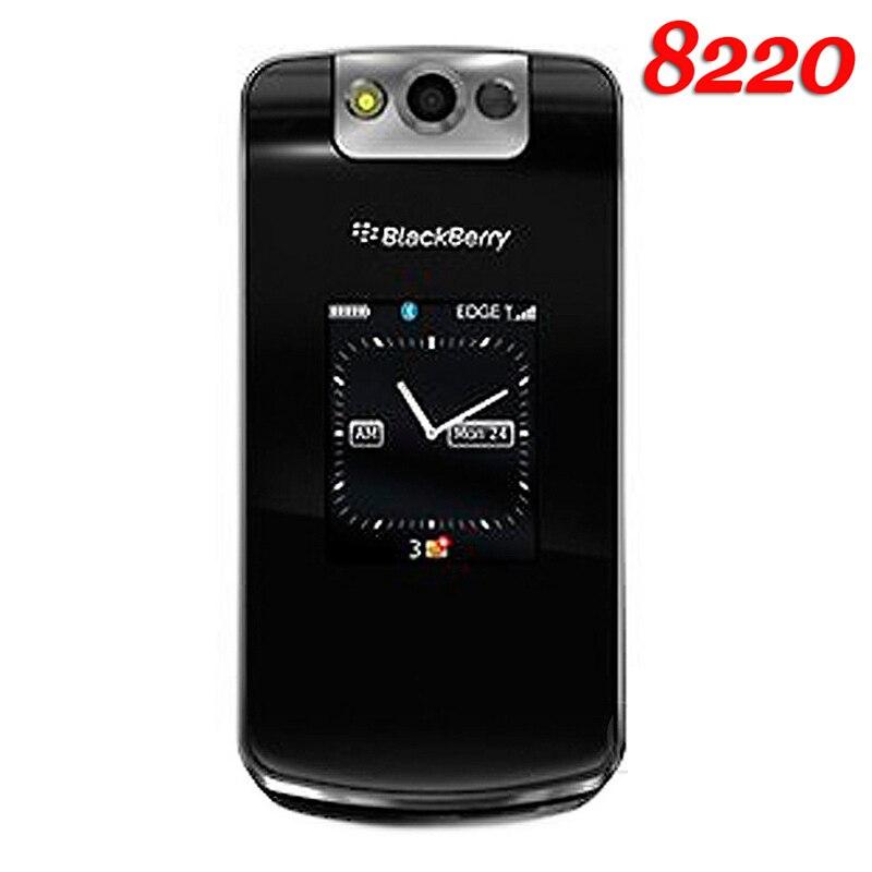 Original Unlocked BlackBerry Pearl Flip 8220 Mobile Phone 2MP Refurbished BlackBerry 8220 Cellphone
