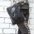 Mestre de aço Moda Gothic Steampunk Retro Rocha Homens Mulheres Saco Da Cintura pacotes de saco de Ombro de Couro Saco Titular Caso de Telefone 2015