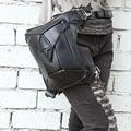 Steel Master Fashion Gothic Steampunk Retro Rock Leather Shoulder  bag packs Men Women Waist Bag Phone Case Holder Bag 2015