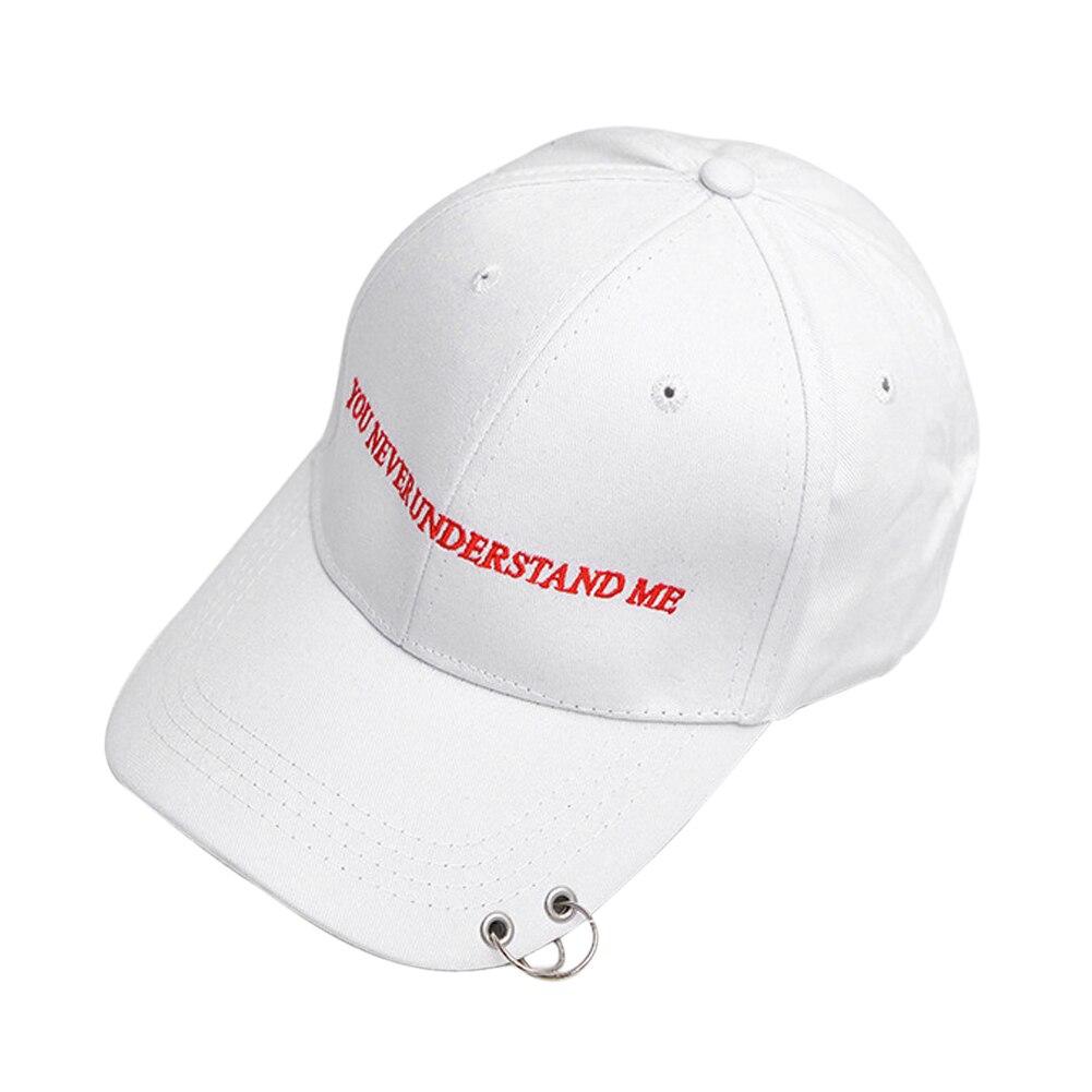 ffe261a4d3ffc Envío de la gota Pin de seguridad Hiphop hombres otoño algodón negro gorra  de béisbol fuera curva sombreros blanco negro 2 Color en Gorras de béisbol  de ...
