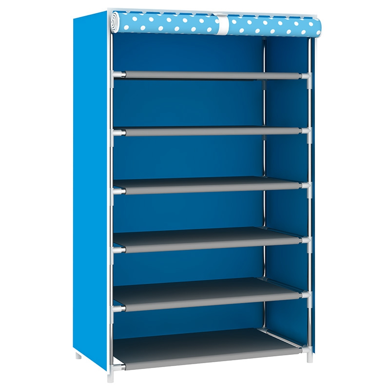 Hot Sale Non-Woven Fabric Shoe Rack Stand Shelf Dustproof Shoe Cabinet Multilayer Organizer Shoes Holder Pink Blue
