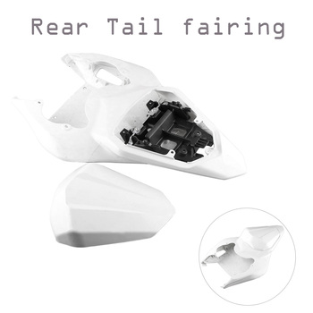 GZYF ABS plastic DIY Motorcycle Parts White Unpainted Cover Bodykits Tail Rear Fairing For Yamaha YZF R6 2006 2007