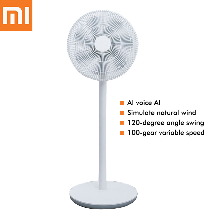Xiaomi Mijia Smart Floor Fan DC Frequency Conversion Fans with 7 Fan Blades AI Voice Remote Control Stand Fans for Home new dv5214 2na 24v 22w 13cm 12738 aluminum frame fan frequency conversion fan for papst 127 127 38mm
