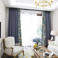 Linen Curtains Sample Korean Style Pastoral Fresh Cotton Printed Curtains For Bedroom Cortinas Blackout Cortina Para Cozinha