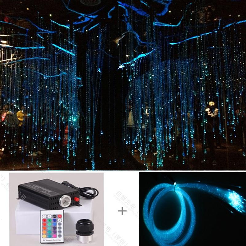 Factory plastic fiber optic led lighting palm tree neon light Christmas tree light skidproof christmas baubles tree pattern rug