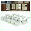 10pcs/lot Universal Kitchen Bedroom Living Room Cabinet Cupboard Closet Wardrobe Hinge LED Night Lights White Warm System