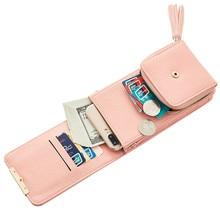 купить Female Mini Shoulder Bag Clasp Folding Slung Chain Bag Mobile Phone Bag Coin Purse Small Crossbody Bags for Women Marcas Famosa по цене 868.85 рублей