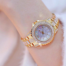 купить Women Luxury Brand Watch 2019 Dress Silver Gold Women Wrist Watch Quartz Diamond Ladies Watches Female Clock Bayan Kol Saati дешево