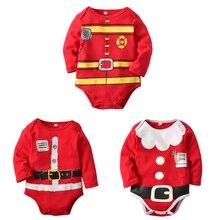 Christmas Baby Boy Girl Santa Claus Bodysuit
