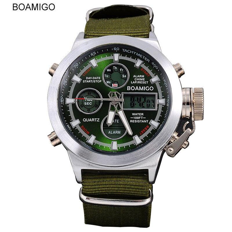 Mens Watches Top Brand Luxury Quartz Dual Display Sport Military Digital Watch Men Fashion Waterproof Watch New Arrival 2019