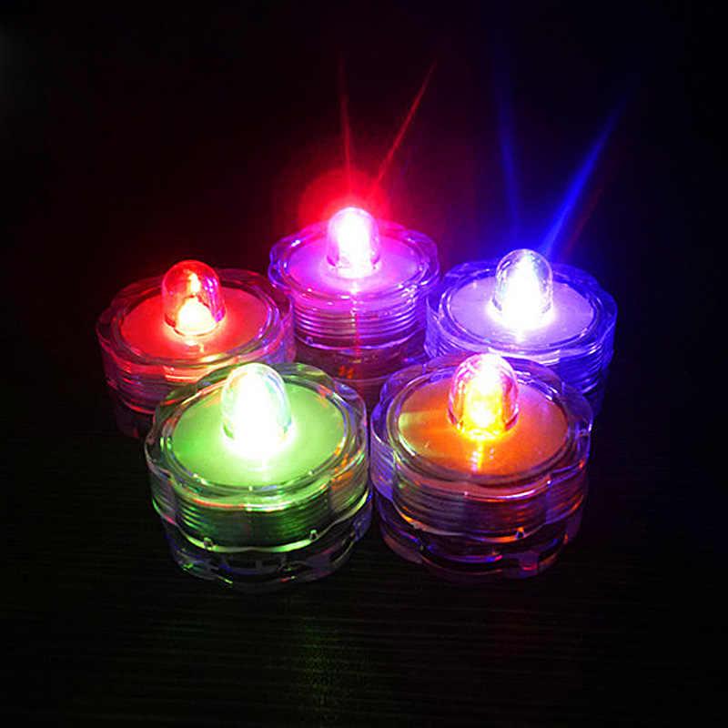 12 Pcs/Set Flower Shape LED Electronic Candle Simulation Candle Lights Flameless Flashing Tea Lights Wedding Party Decoration