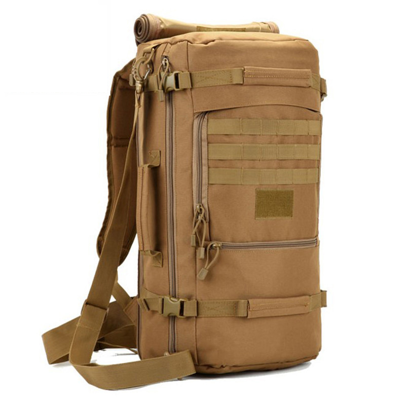 Hot Men's Military Backpack Waterproof Nylon School Bag Camouflage Backpacks Multi-function Men Travel Bags 2019 D088