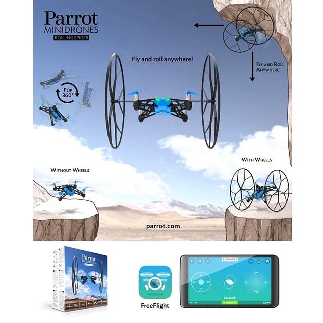 Frete grátis papagaio Rolling Spider Smartphone Tablet controle App em estoque