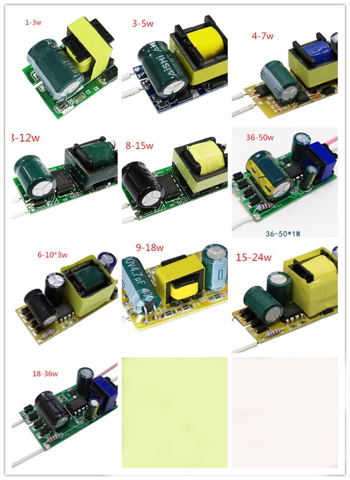 <font><b>Led</b></font> <font><b>Driver</b></font> 2pcs/lot Constant Current Lamp Power Supply 280mA to 300mA 1W 3W 5W 7W <font><b>9W</b></font> 10W 20W 30W 36W Lighting Transformer image