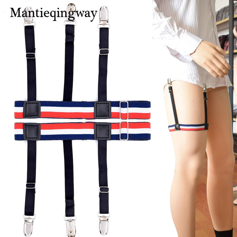Men's Suspenders Honest Mantieqingway Sock Suspenders For Men Ajustables Anti-slip Sock Garters Elastic Mens Legs Striped Shirts Suspenders Belts Men's Accessories