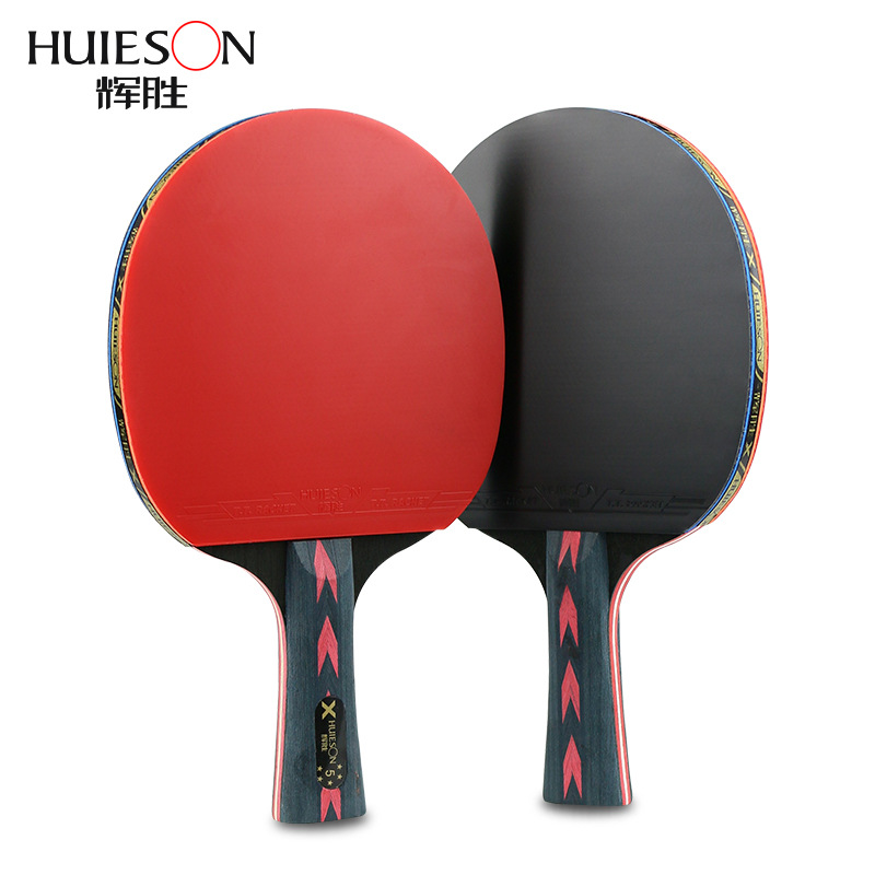 2019 2Pcs Upgraded 5 Star Carbon Table Tennis Racket Set Lightweight Powerful Ping Pong Paddle Bat With Good Control With Case