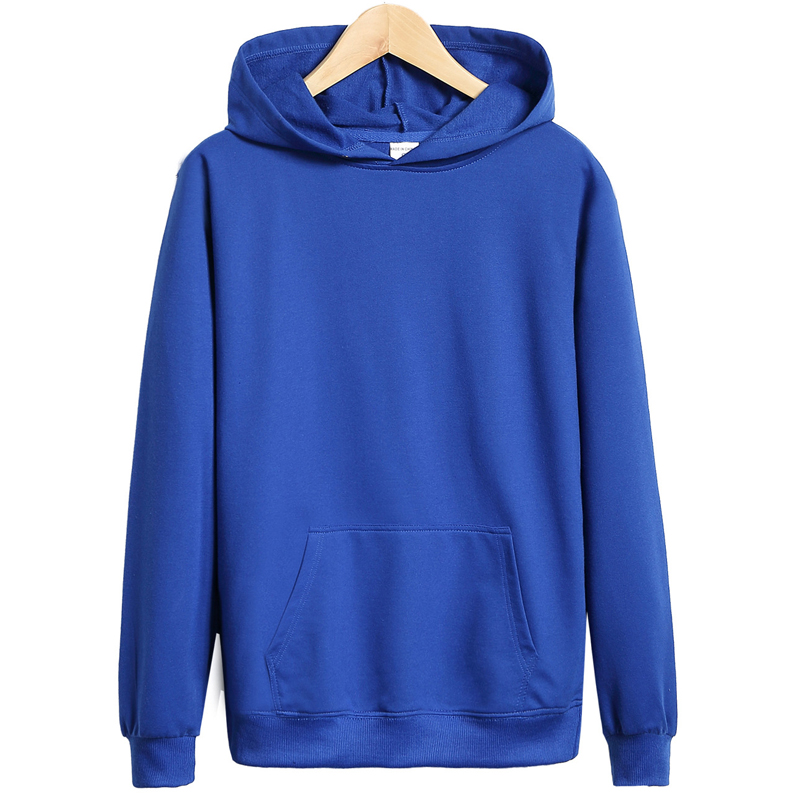 2017 New Arrivals Solid Color Male Hooded Sweatshirt Big and Tall font b Mens b font
