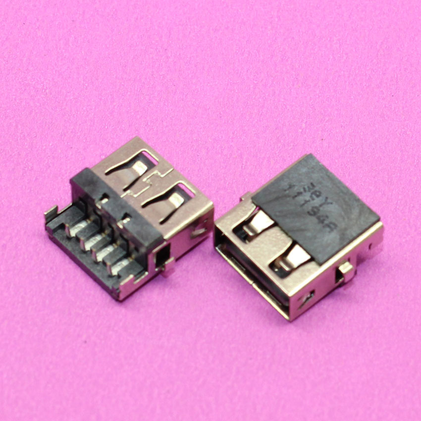 YuXi Laptop USB jack socket port connector for HP G4-1000 G6 G7 -1000 G62/ Lenovo G570 G570A G570AH E320 / Samsung 3 NP300E5C 2pcs 100pcs for laptop dell latitude e5540 usb 3 0 jack socket port connector 9 pin new