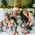Família Roupas Combinando Família Pijama Natal Combinando Roupas Filha Da Mãe Pai Filho Mon Newbron Bebê Conjuntos Olhar Família