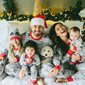 Family Matching Clothes Family Christmas Pajamas Matching Mother Daughter Clothes Father Son Mon Newbron Baby Family Look Sets