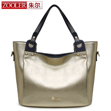 ZOOLER large capacity genuine leather bag casual bags handbags women famous brands shoulder bag 2016 winter limited sale#6952