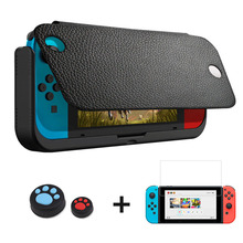 10000mAh סוללה מטען מקרה עבור Nintend מתג NS יוקרה עור מקרה מחזיק Stand כיסוי עבור Nintendo מתג כוח בנק מקרה