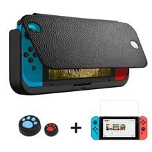 Funda cargadora de batería de 10000mAh para Nintendo Switch, funda atril de cuero de lujo con soporte Switch NS para Nintendo Switch