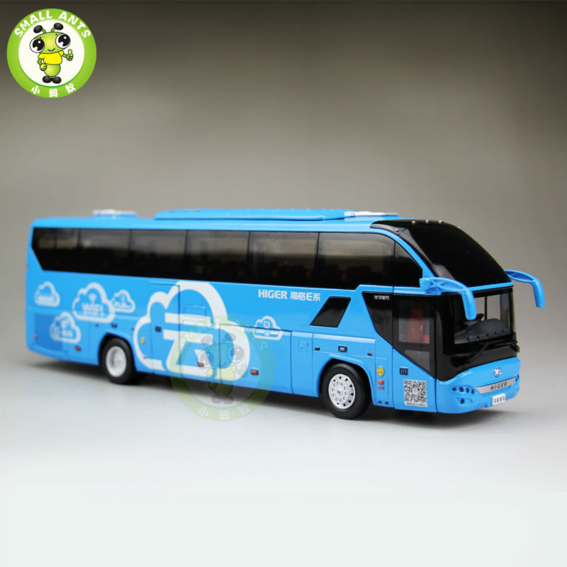 1:43 Scale Bus Coach Models Gold Dragon Higer KLQ6125 Bus China Bus Model 1 38 china gold dragon bus models xml6122 diecast bus model blue