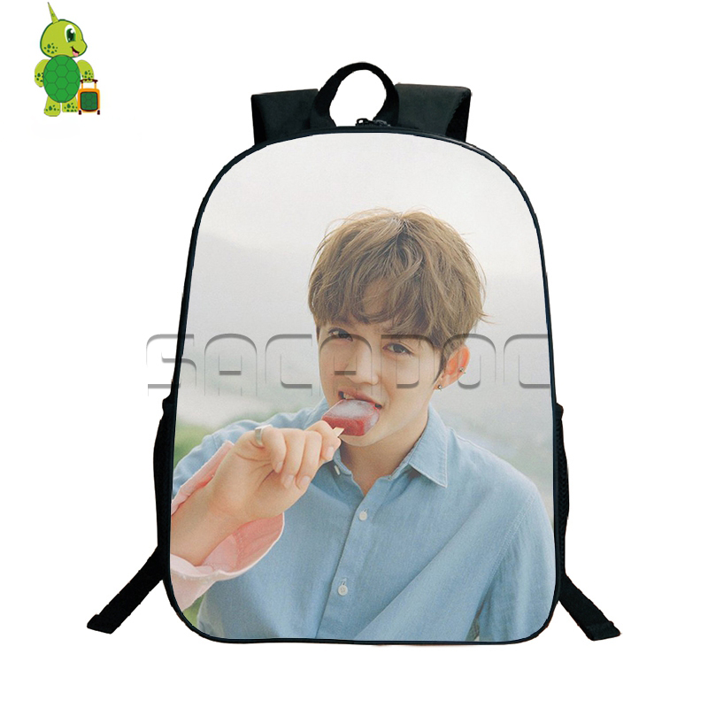 Korean Kpop Seventeen Backpack Boys Girls School Bags Students Book Bag Woozi Hoshi S.coups Young Women Men Fans Daily Bags