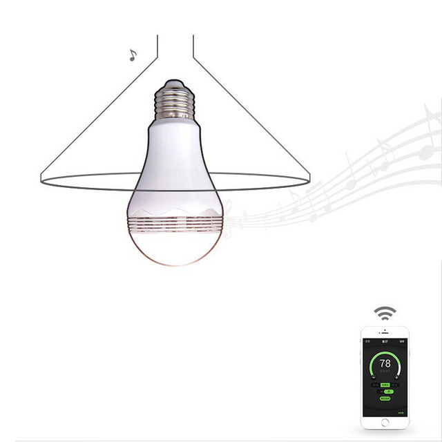 Smart Home Wireless Bluetooth Speaker LED Light Bulb Wifi Color Changing Light Automation Module Kit Control by smart phone app