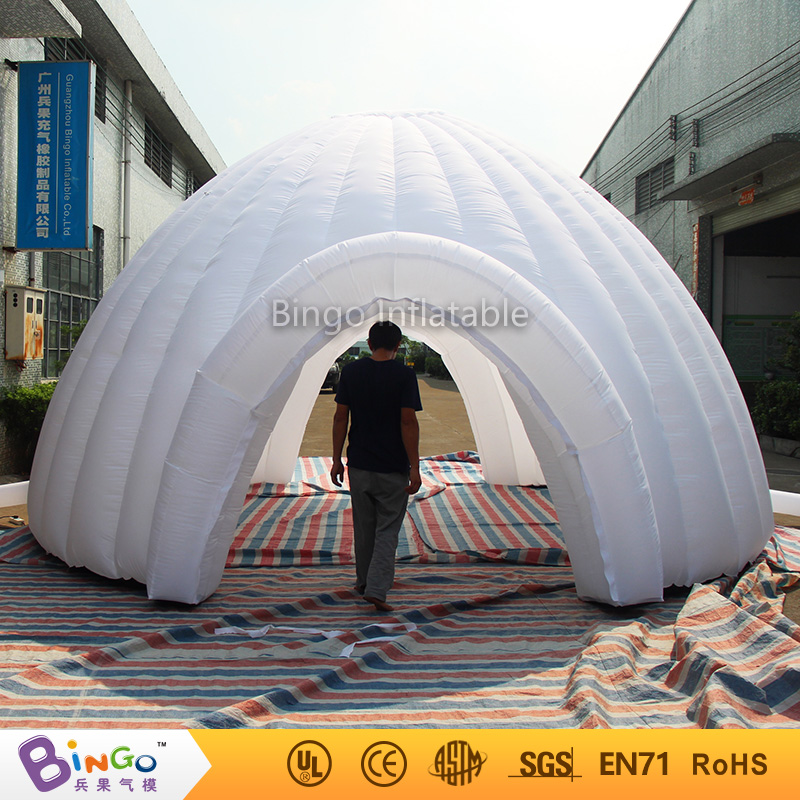 Free express tents shaped inflatable white 6m dome tent oxford tent with 2 doors N removable cover for kids dream tent