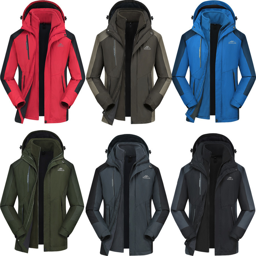 3 In 1 Ski Jacket Men Winter Windbreakers Softshell 2019 Outdoor Hiking Camping Women Jacket Tactical Coat Male Clothing