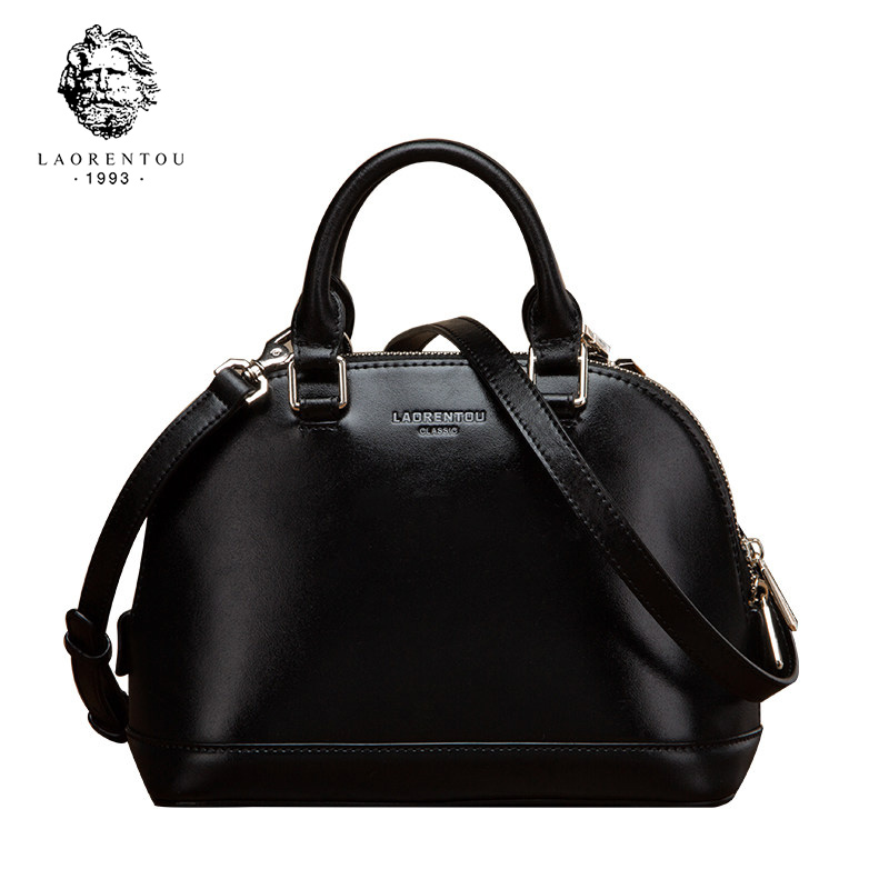 LAORENTOU Cowhide Leather Shoulder Bag Ladies Leather Luxury Handbags Women's Bags Shoulder Bag Casual Tote for Women