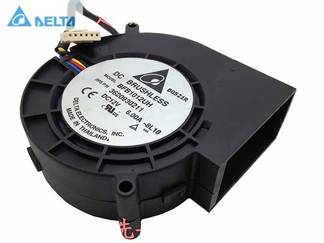 Delta BFB1012UH DC 12V 6A Cooling Fan Server Square Fan 97x97x33mm turbo blower super violent fan pwm fan original delta afc1212de 12038 12cm 120mm dc 12v 1 6a pwm ball fan thermostat inverter server cooling fan
