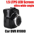 High quality car DVR video recorder camcorder 1.5 inch screen HD night vision 120 degree wide angle