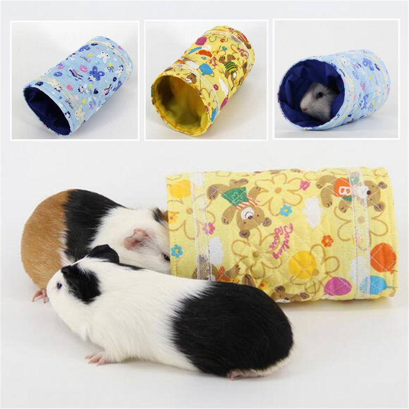Cloth Single Channel Chinchillas Hamster Tunnel Warm Toy Small Guinea Pig Hamster Toy Tubes Tunnels Spring Hamster Cage House