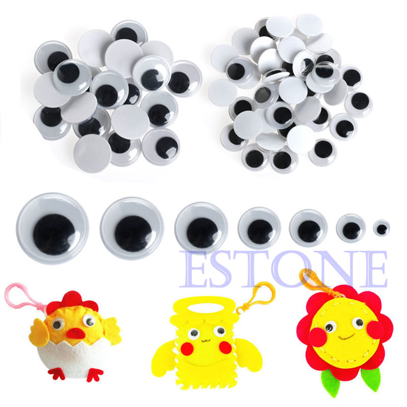 520PCS 6-20mm Wiggly Wobbly Googly Eyes Autoadhesivos Scrapbooking - Muñecas y peluches - foto 4